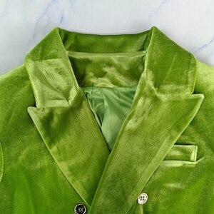 Image 4 - Chicever エレガントな女性のブレザーノッチ長袖ダブルブレストポケット大サイズの女性スーツ秋ファッション新 2020