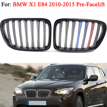 MagicKit Car Styling Kidney pre-facelift Racing Gloss Black Grills Grille For BMW X1 E84 Performance BMW Accessories 2010-2015