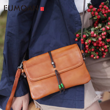 EUMOAN Womens one-shoulder slanted bag, two hands to carry the fashion retro sen line simple small bag