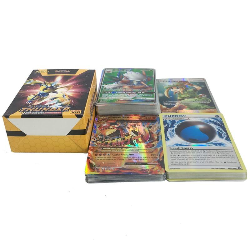 Takara Tomy Pokemon Card 100PCS GX MEGA Trainer Energy Flash Sword Shield Sun Moon  Collectible Christmas Gifts Children Toy