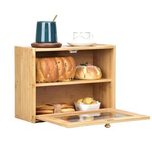 Bamboo Bread Box Storage Box D