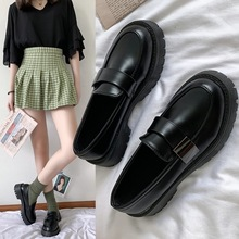Loafers Flats Platform-Shoes Women Slip Black Casual Woman Round-Toe on Solid PU Zapatos-De-Mujer