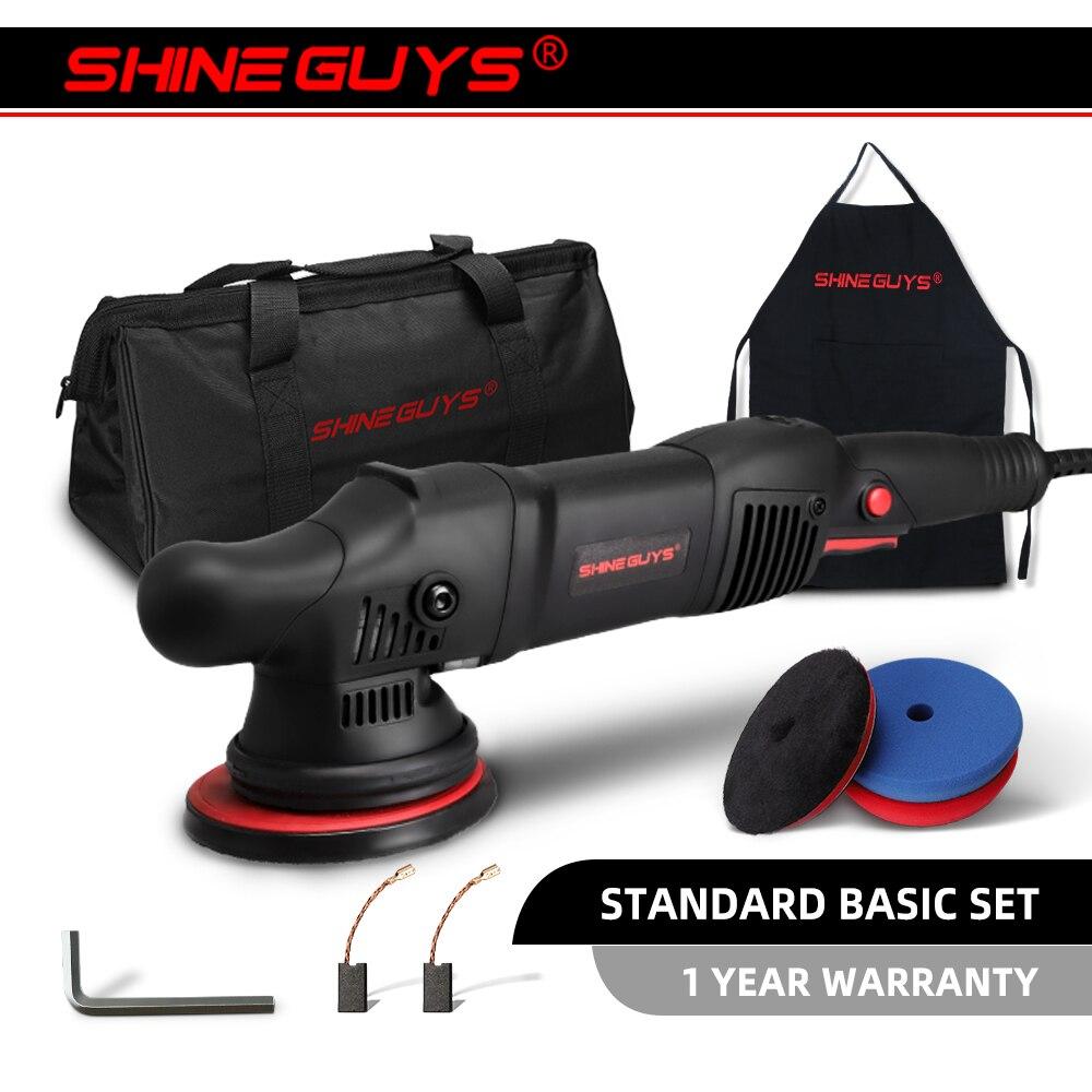 Машинка для полировки Shine Guys с 15-миллиметровым длинным забросом, с 3 профессиональными насадками, 5/900 Вт