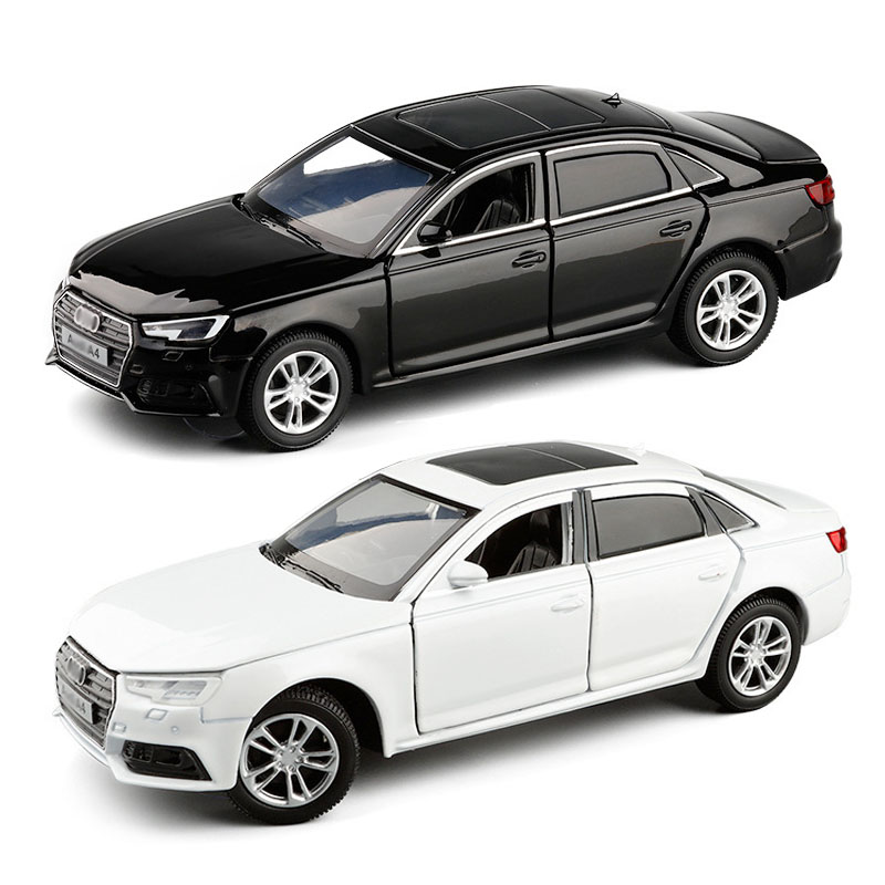1:32 Audi A4 model Diecast alloy sports model car pull back sound and light toys children gift collection toys v247free shipping image