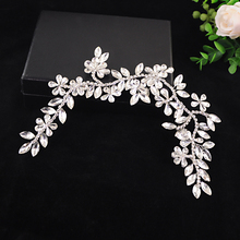 TRiXY H239 Bridal Hair Accessories Luxury Crystal Wedding Headband Newest Design Bridal Crown Rhinestone Bridal Hair Tiara
