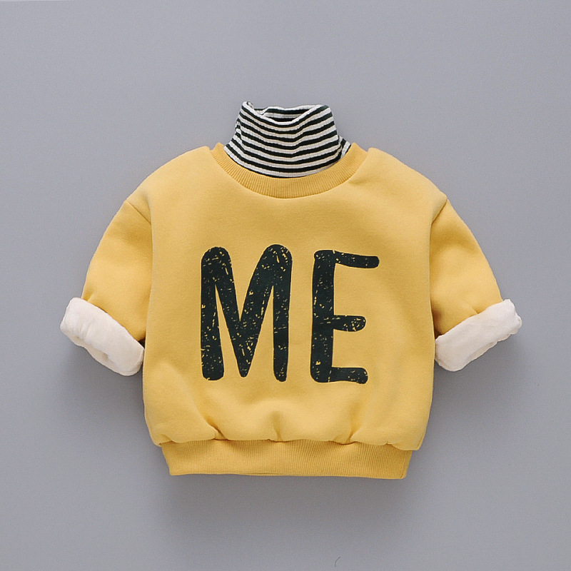 Popodion Winter Clothes Plus Velvet Thickening Children's Turtleneck Wweaters for Boys and Girls CHD20355 1