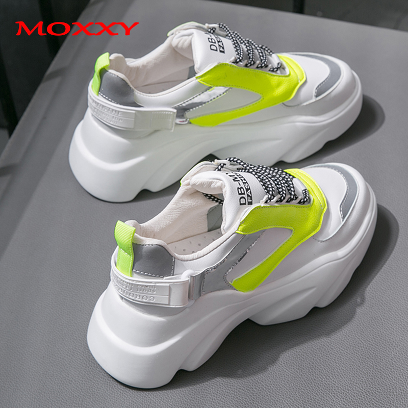 2019 New Wedge Sneakers Women Shoes Chunky Sneakers Platform Casual Shoes Female White Dad Sneaker Chaussures Femme Drapshipping