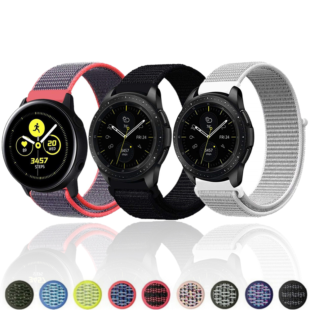 22mm 20mm watch Strap for Samsung galaxy watch active 42mm 46mm Gear S3 s2 Frontier Classic Band huami amazfit bip huawei gt 2