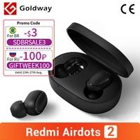 Xiaomi-auriculares inalámbricos Redmi AirDots 2, por Bluetooth 5,0, TWS, modo Lag bajo, izquierda y derecha, estéreo, enlace automático