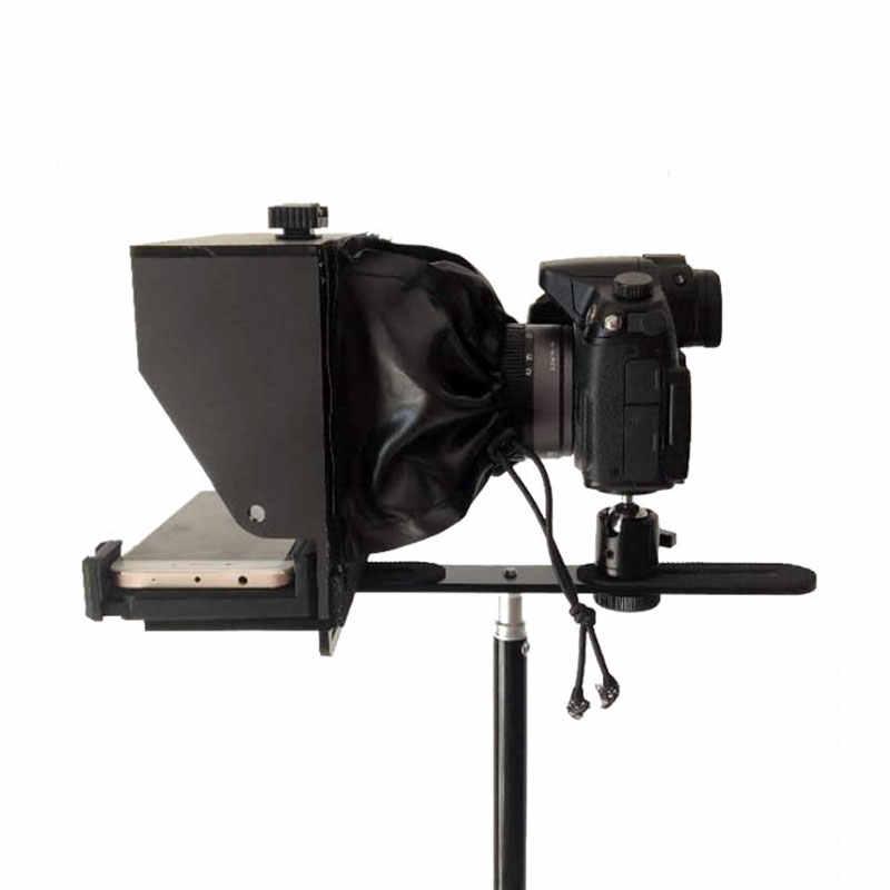 Tzt Điện Thoại Thông Minh Teleprompter Camera Di Động Điện Thoại Di Động Prompter Cho Sống Tin Cuộc Phỏng Vấn Bài Diễn Văn