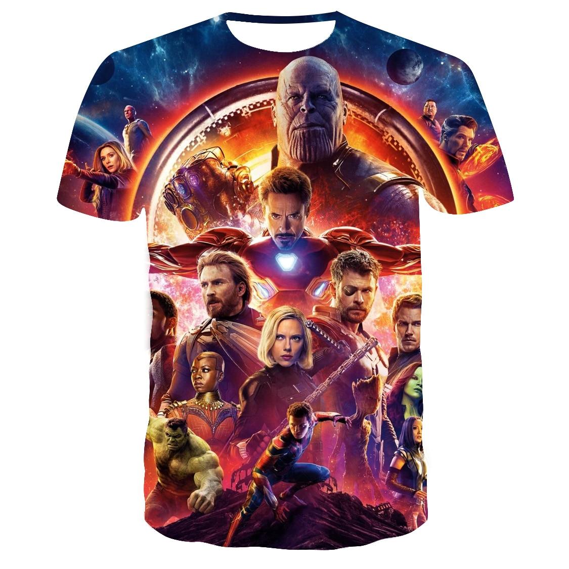 2019 nuevo Marvel Мстители 4 camiseta final imprión 3d superhéroe América camiseta cosplay camiseta hombres nueva moda de vera
