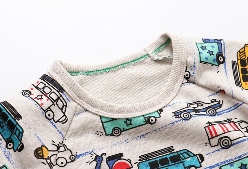 SAILEROAD Cartoon Car Print Boys Sweatshirts for Kids Clothes Autumn Children Hoodies Clothing 2021 Kids Girls Christmas Costume 3