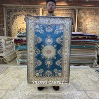 Yilong 2.5'x4' Hand Knotted Persian Carpet Natural Oriental Turkish Rug (HF156B)