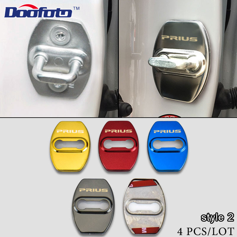 Doofoto Auto serrure de porte autocollant Protection couverture décalcomanies voiture style étui pour Toyota Prius 20 30 50 V C Alpha Badge accessoires