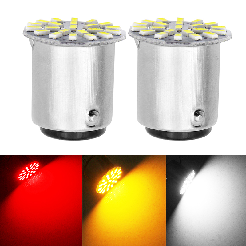 2pcs 1156 P21W BA15S R10W R5W <font><b>G18</b></font> 22 SMD 3014 <font><b>LED</b></font> Car Daytime Running Light Auto Tail Side Indicator Bulbs Parking Lamp DC 12V image