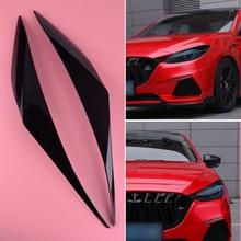 beler 2Pcs Car Black ABS Headlight Eyebrows Eyelids Trim Fit for Mazda 3 Axela Sedan 2017 2018