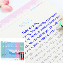 Reusable Hengshui Italian English Word font copy book Set copybook for calligraphy kids adult handwriting writing books libros
