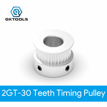 Gktools peças de impressora 3d gt2 cronometrando polia 2gt 30 dentes diâmetro 10/12mm rodas síncronas para largura 6/10mm correia