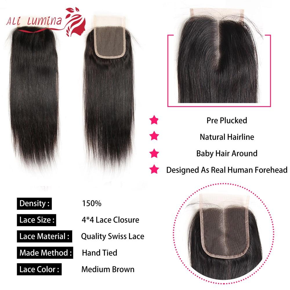 4x4 Lace Closure 100%  Closure  Sample     Hair Straight Frontal 8 Inches Short Hair 4