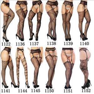 Fishnet Pantyhose Lingerie Stockings Tights Garter Open-Crotch Elastic Transparent Sexy