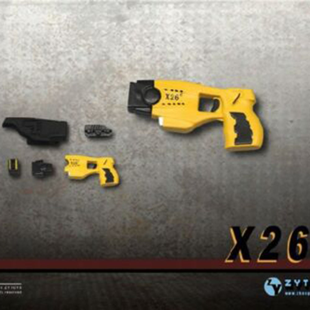 ZYTOYS 1/6 Scale X26 Taser Gun Weapon Soldier Figure Toy ZY2009E Model Fit 12