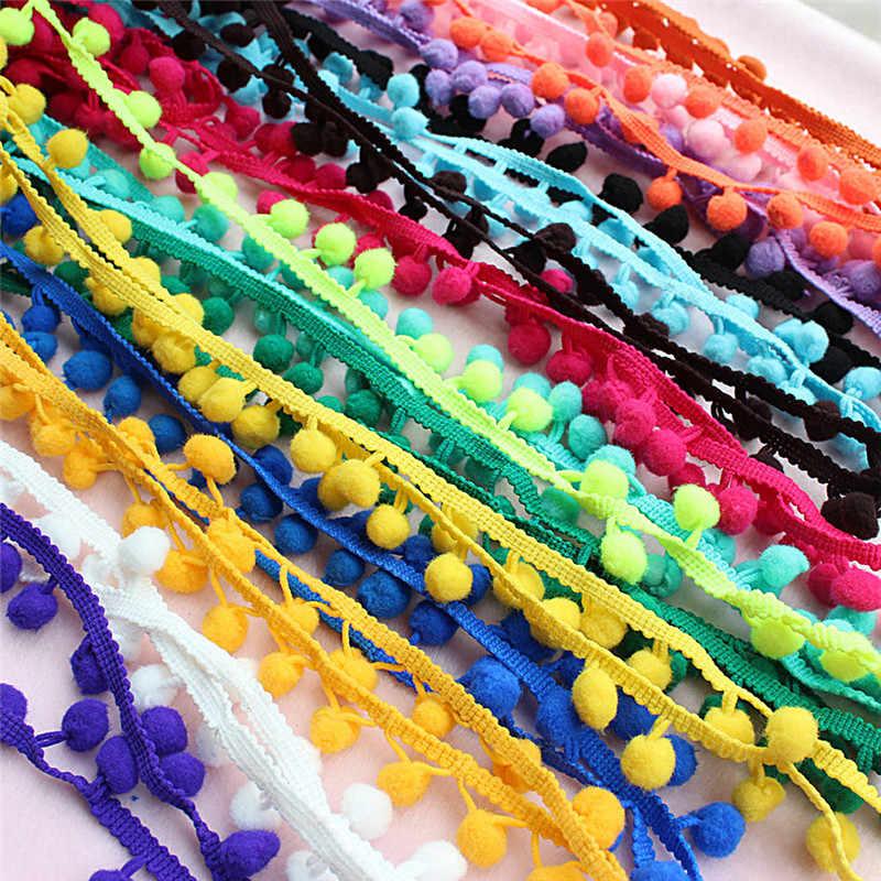 Pom Pom Trim Ball Sewing Accessories Pompom Ball lace Trim Tassel Fringe Ribbon Kintted Fabric DIY Craft Apparel Accessories