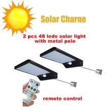 цена на 2/4pcs LED Solar Power Garden light Path light PIR Motion Sensor waterproof Night Sensor Wall lamp Outdoor Patio Street Security