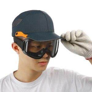 Image 2 - An toàn Va Đập Nắp Sọc Phản Quang Nhẹ và Thoáng Khí Mũ Đầu Mũ Bảo Hiểm Nơi Làm Việc Công Trường Xây Dựng Nón Đen