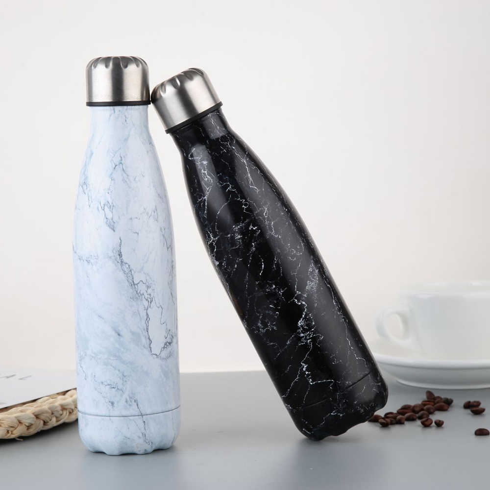 500ml Water Bottle Vacuum Insulated Flask Thermal Sport Chilly Drinks Cold Cup
