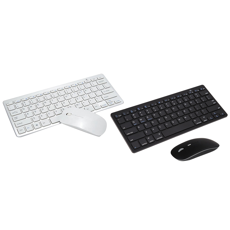 for Android Apple System Smart Phone Tablet PC Universal Mini Ultra-Thin Wireless Bluetooth Keyboard Mouse Set