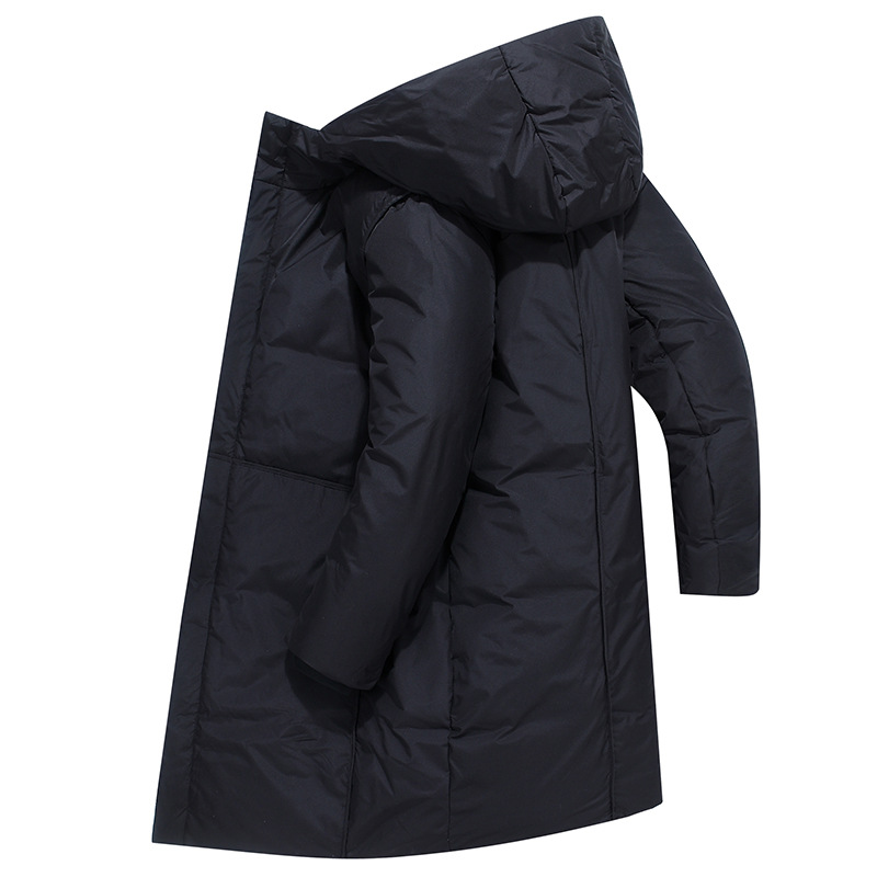 Down Jacket Men's Thick Warm Cold Middle Long Coat 2019 Winter New Style Men'S Wear Youth White Duck Down Tops