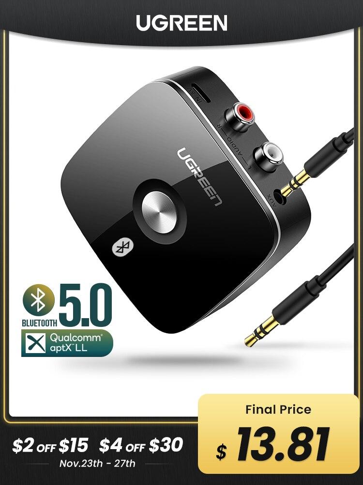 RCA Receiver Jack Music Ugreen Bluetooth Aptx Ll Wireless Adapter TV Aux Audio for Car