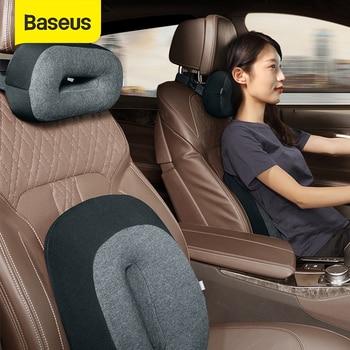 Baseus Floating Car Waist Pillow Auto Headrest Pillow Neck Memory Lumbar Support  3D Memory Foam Seat Covers Car Styling