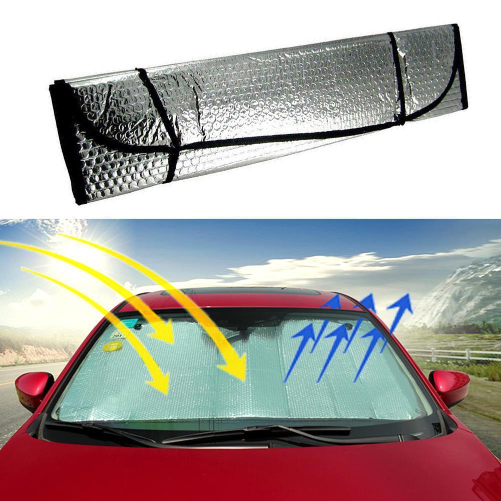 Ventana de coche Delantero Parabrisas Parasol Pantalla Cubierta Parasol Visera Trasera De Nieve Gris