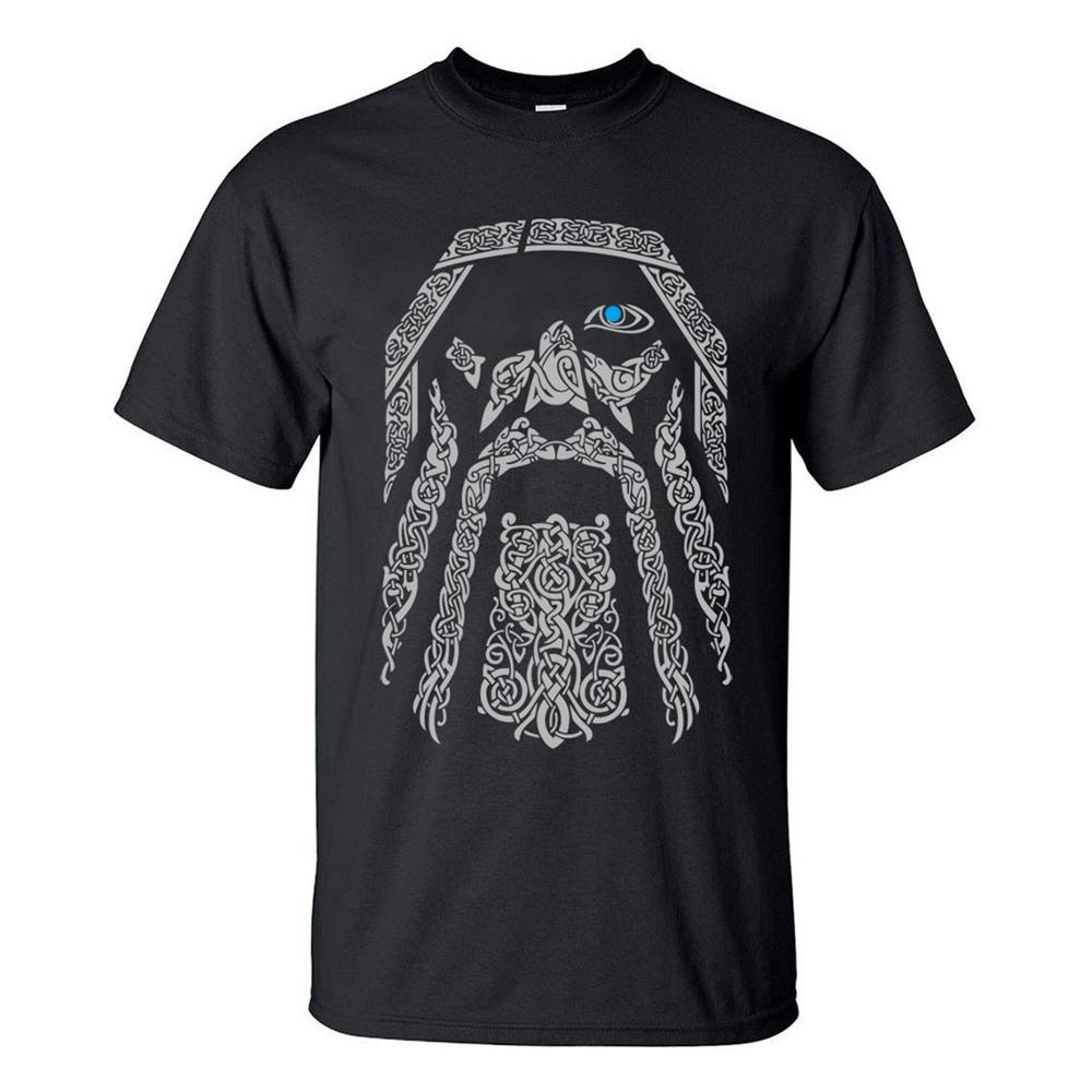 TV Show Odin Vikings Fashion Men T Shirts 2020 Summer Cool Short Sleeve T-Shirt 100% Cotton Casual Men's Tops Tee Brand Clothing