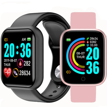 Cyfrowy inteligentny zegarek Y68 męskie zegarki na rękę Smartwatch elektroniczny zegarek na rękę Bluetooth fitness zegarek mężczyźni dzieci godziny hodinky tanie i dobre opinie DOOLNNG kolorowy wyświetlacz lcd Zgodna ze wszystkimi RUBBER Krokomierz Rejestrator aktywności fizycznej Wiadomości z przypomnieniami