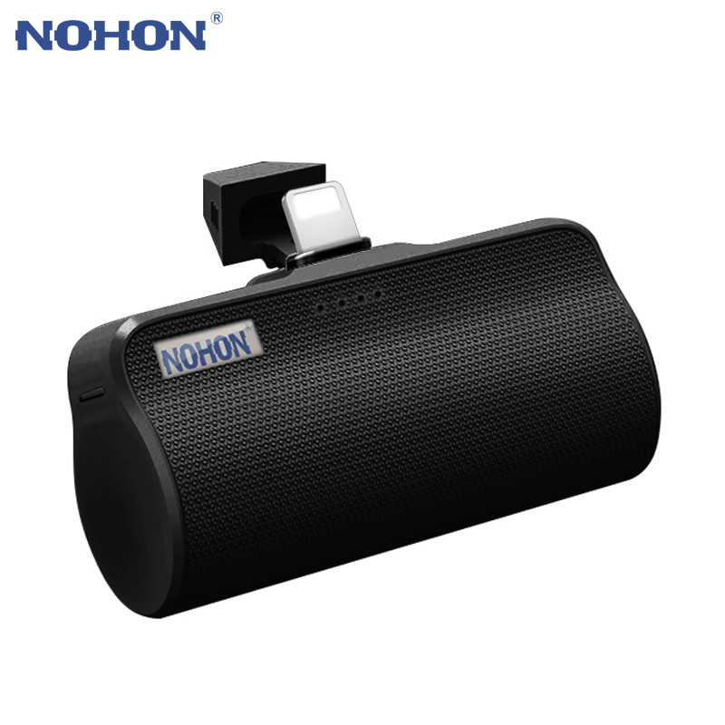 NOHON 3000mAh Mini Power Bank For Apple Micro Type C Interface For IPhone Samsung Xiaomi Portable External Battery Phone Charger
