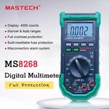 MASTECH MS8268 Digitale Multimeter Auto Range bescherming ac/dc amperemeter voltmeter ohm Frequentie elektrische tester diode detector