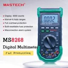 MASTECH MS8268 dijital multimetre otomatik aralığı koruması Ac/dc ampermetre voltmetre Ohm frekans elektrik test cihazı diyot dedektörü
