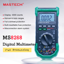 MASTECH multimètre numérique MS8268, Protection à plage automatique, ampèremètre Ac/dc, voltmètre Ohm, testeur électrique, détecteur de Diode