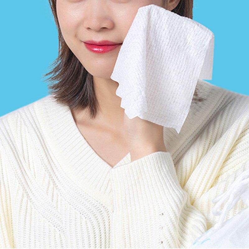 Naturally Disposable Facial Towel Cotton Non-woven Fabric Soft Face Tissue Makeup Remover Tissues TT@88