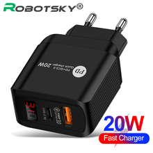 Universal Quick Charger PD 20W QC 3.0 USB Type C Fast Charger For iPhone Wall Phone Tablet Charger For Huawei Xiaomi PD Charger