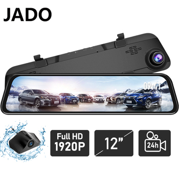 JADO G840S Dash Camera 12 Inch Full Screen Night Car Dvr Camera 1296P Rear 1080P Lens Driving Video Recorder Auto Dash Camera