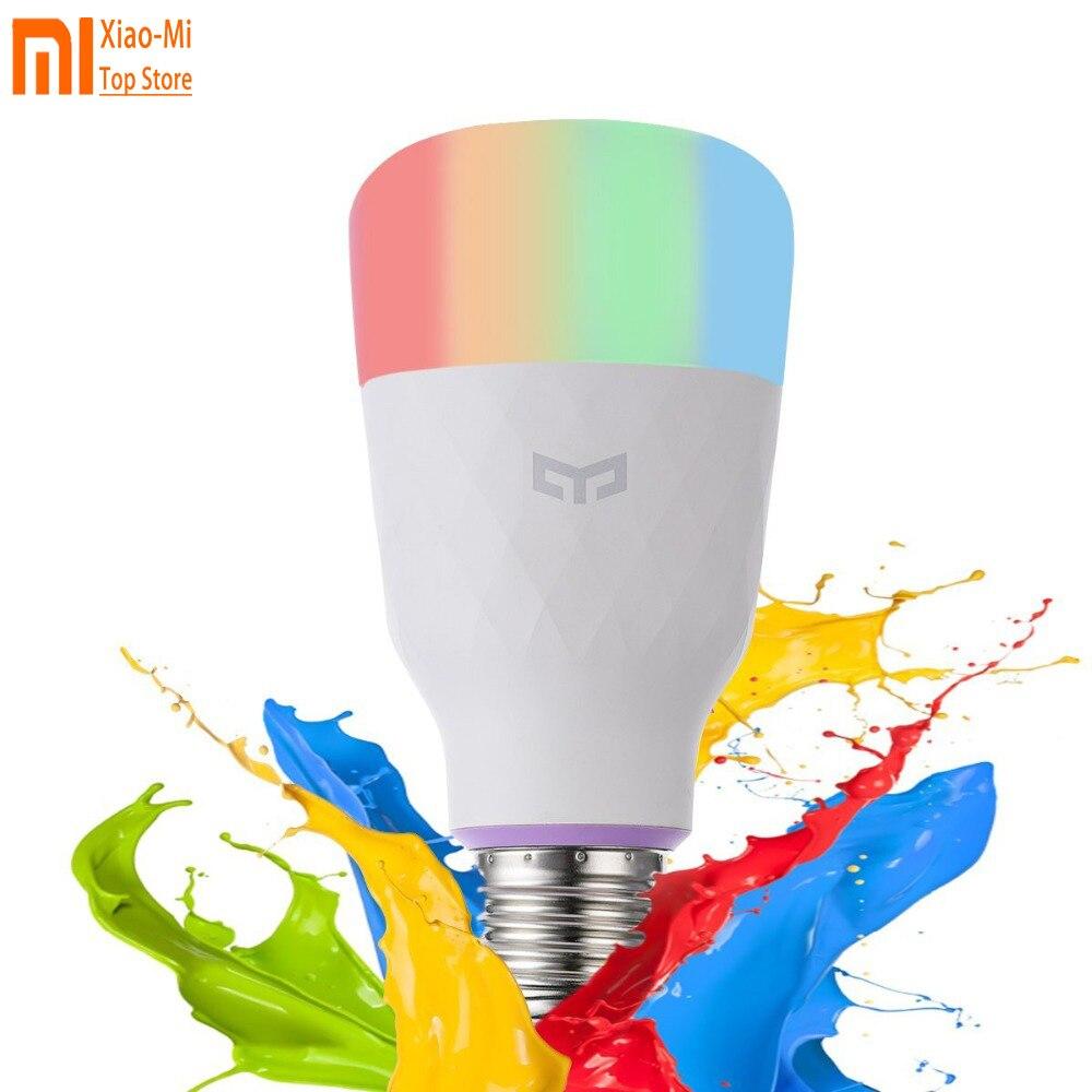 English Version Xiaomi Yeelight Smart LED Bulb Colorful 800 Lumens 10W E27 Lemon Smart Lamp For Mi Home App White / color Option