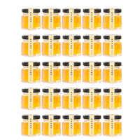 Triangulación de envíos, 25 unidades/juego, 5,1x4,8 cm, 45ml, frasco de cristal hexagonal, tarro de especias, artesanías, tarros de lata para mermelada, miel y gelatina