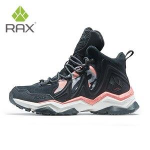 Image 4 - RAX الرجال حذاء للسير مسافات طويلة الشتاء مقاوم للماء في الهواء الطلق حذاء رياضة الرجال الجلود الرحلات الأحذية درب التخييم تسلق الصيد أحذية رياضية النساء