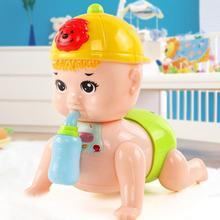 Ползание игрушка с кормлением бутылочкой интеллект развитие нетоксичный ползание ребенок кукла игрушка для малышей