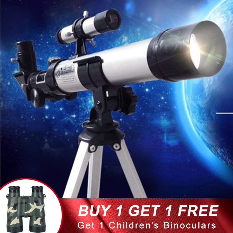 Refractor Zoom HD Professional Astronomical Telescope With Tripod Outdoor Spotting Observe Stars Moon Monocular Student Gift