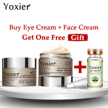 Yoxier Snail Eye Cream Face Cream Anti-aging Remove Eye Bag Lifting Firming Fine Lines  Facial Skin Care  Buy 2 Get 1 Free Gift цена 2017