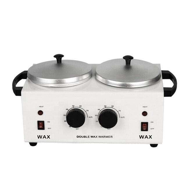 MEIERLI Double Pots Depilatory Wax Warmer Machine Paraffine Wax Heater For Hand And Feet SPA Epilator Hair Removal Tool